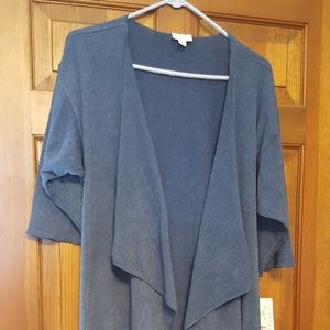 NWT Lularoe Shirley long blue sweater cardigan
